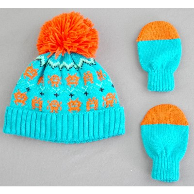 Toddler Boys' Monster Hat and Mitten Set - Cat & Jack™ Green 2T-5T