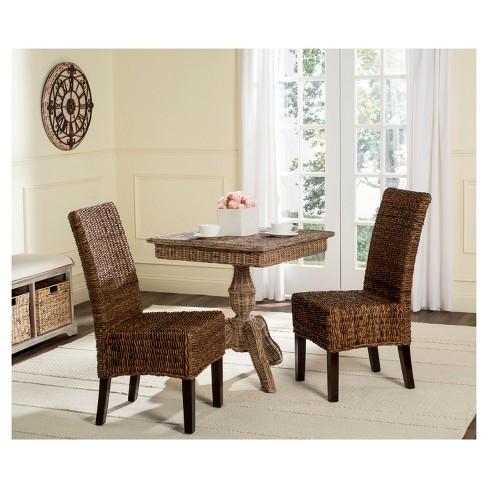 Avita Wicker Dining Chair Set Of 2 Safavieh Target