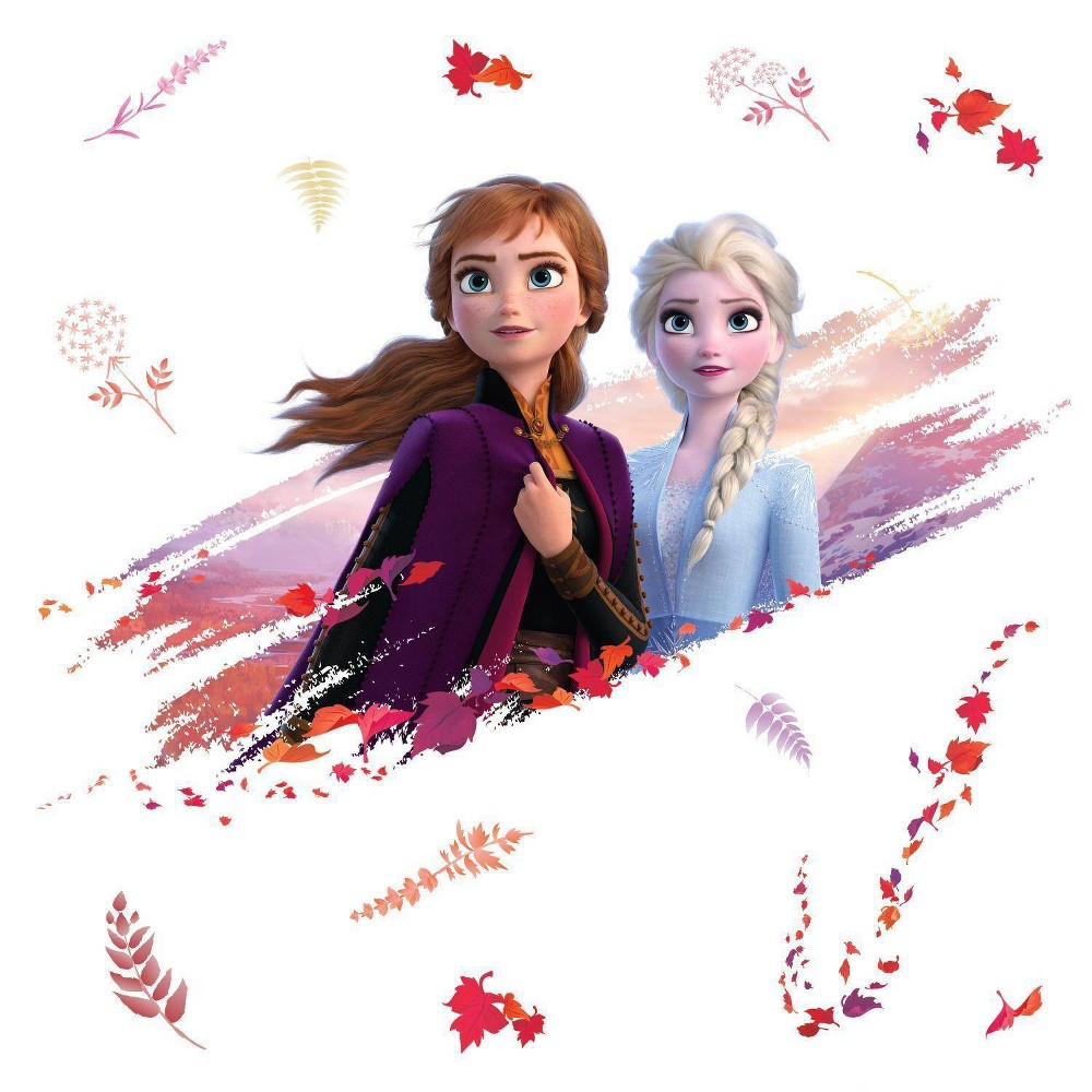 Image of Frozen 2 Elsa & Anna Peel & Stick Giant Wall Decal - Roommates