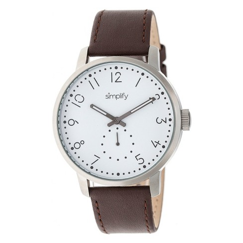 Simplify The 3400 Men's Leather-Band Watch - image 1 of 3