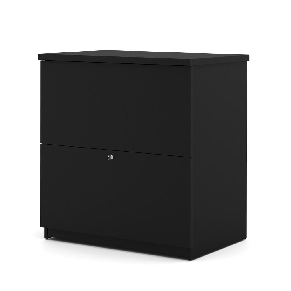 2 Drawer Standard File Cabinet Black - Bestar