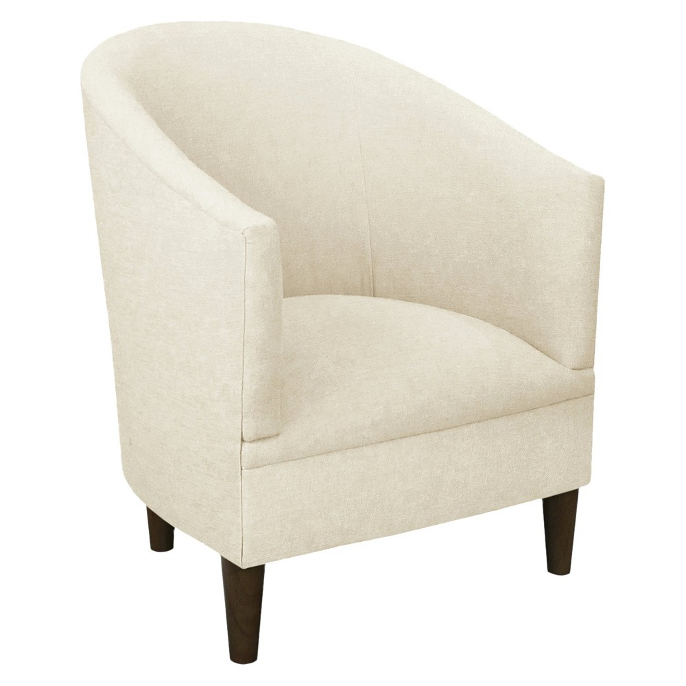 Skyline Custom Upholstered Tub Chair - Skyline Furniture, Linen Talc