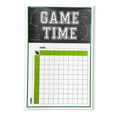 12-Pack Football Betting Squares Game Poster for Office Pool, Super Bowl Party Supplies, Sports Theme Birthday - image 1 of 4