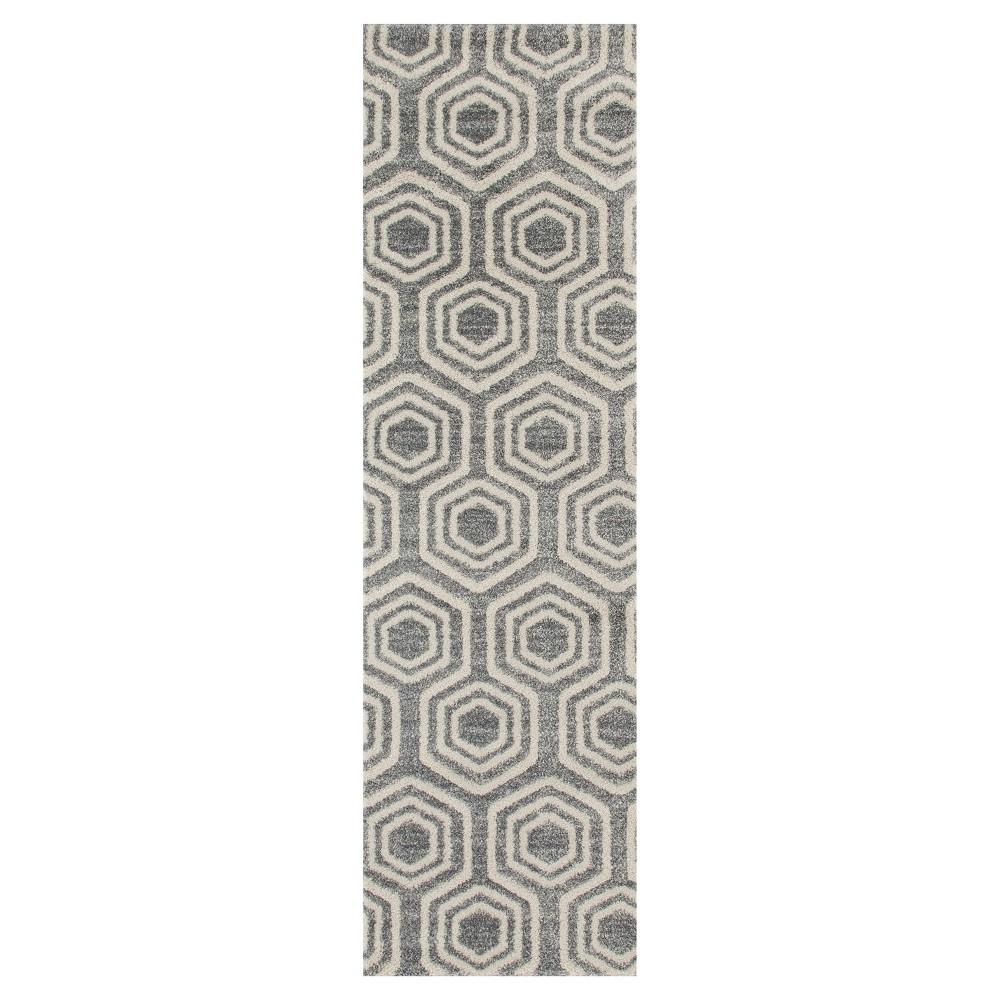 Image of Gray Abstract Woven Runner - (2'X8') - Art Carpet, Size: 2'X8' RUNNER