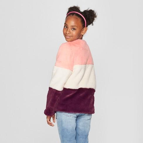 a14ebdb9ea13 Girls  Faux Fur Jacket - Cat   Jack™ Pink   Target