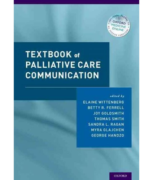 Textbook of Palliative Care Communication (Hardcover) - image 1 of 1