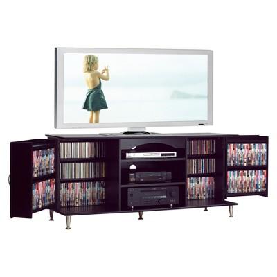 Premier TV Stand With Media Storage   Black   Prepac