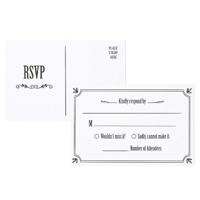 Best Paper Greetings 50-Pack RSVP Postcards, Return Cards for Weddings and Party (4 x 6 Inches)