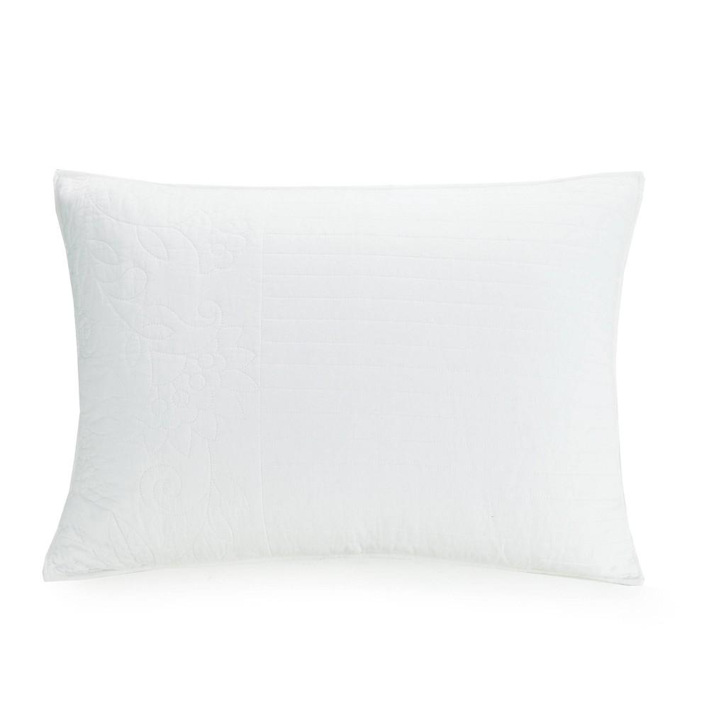 Image of Standard Laos Lily Pillow Sham White - Vera Bradley