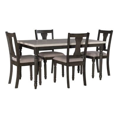 5pc Reagan Dining Set Gray - Powell Company