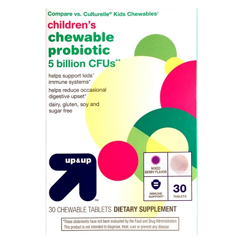 Children's Probiotic Supplement Chewables - Mixed Berry - 30ct - Up&Up™ - image 1 of 3