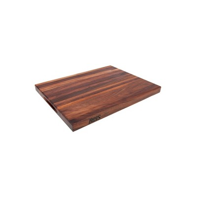 John Boos Walnut Wood Edge Grain Reversible Kitchen Butcher Block Cutting Board, 24 x 18 x 1.5 Inches