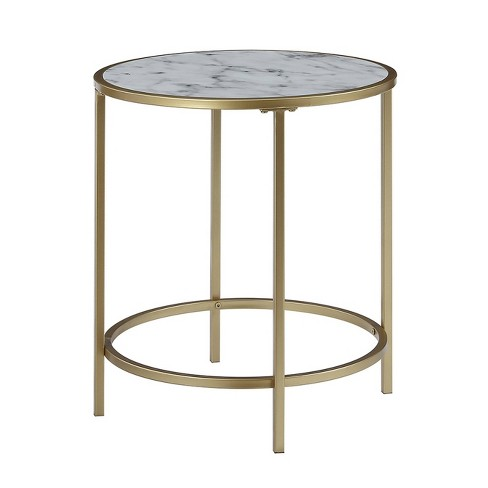 Gold Coast Deluxe Mirrored Round End, Target Mirrored Furniture