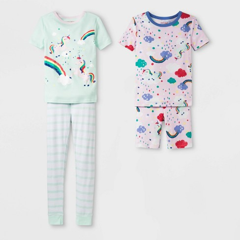 20e1ae723 Girls  Tight Fit Rainbow Unicorn Pajama Set - Cat   Jack™ Moonlight ...