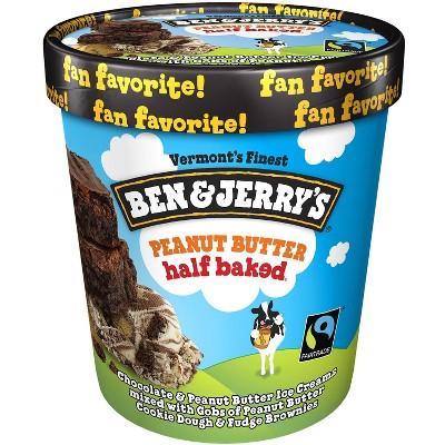 Ben & Jerry's Peanut Butter Half Baked Ice Cream - 16oz