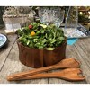 Kalmar Home 328B-3 Large Acacia Wood Salad Serving Bowls with Servers, Brown - image 2 of 2
