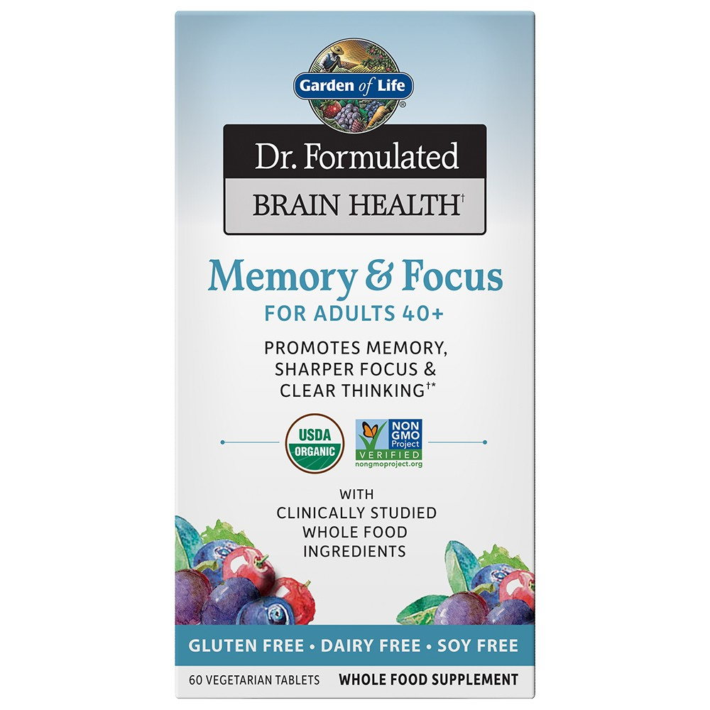 Garden of Life Dr. Formulated Memory & Focus for Adults 40+ Tablets - 60ct