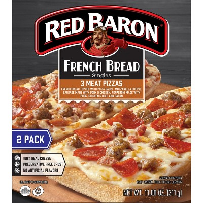Red Baron French Bread Three Meat Frozen Pizza - 11oz