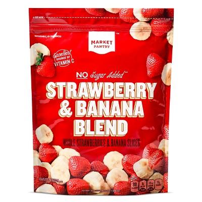 Strawberry Banana Frozen Fruit Blend - 48oz - Market Pantry™