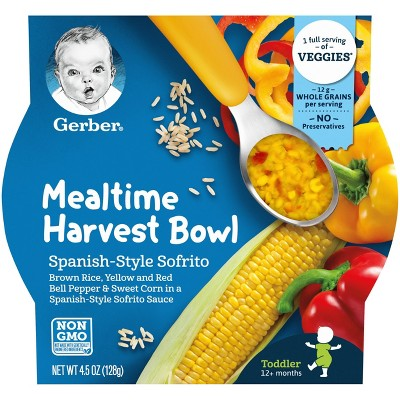 Gerber Mealtime Harvest Bowl Sofrito Baby Meals - 4.5oz