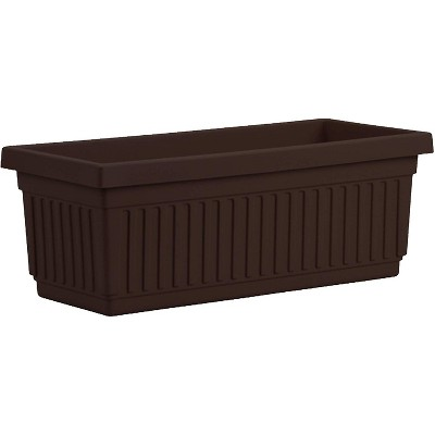 HC Companies VNP30000E21 30-Inch Fluted Plastic Venetian Flower Box for Flowers, Vegetables, or Succulents, Chocolate