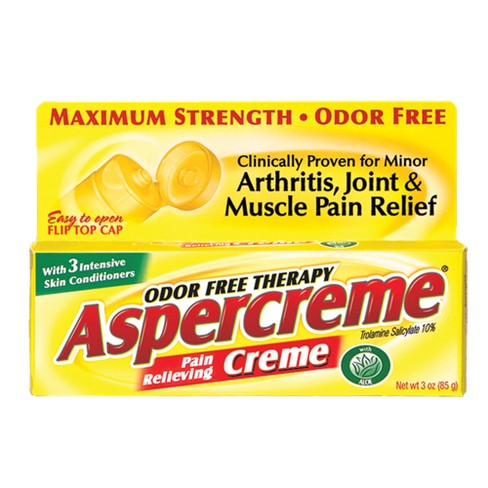 Aspercreme® Aloe Odor Free Pain Relieving Crème - 3 oz - image 1 of 3