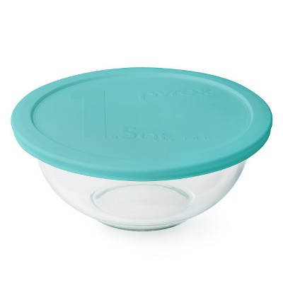 Pyrex 1.5qt Mixing Bowl Aqua