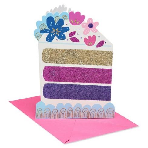 Superb Birthday Cake Greeting Card With Glitter Target Personalised Birthday Cards Beptaeletsinfo