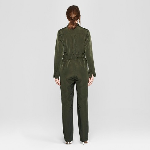 073971ad6d3 Women s Long Sleeve Collared Utility Jumpsuit - Prologue™ Olive   Target