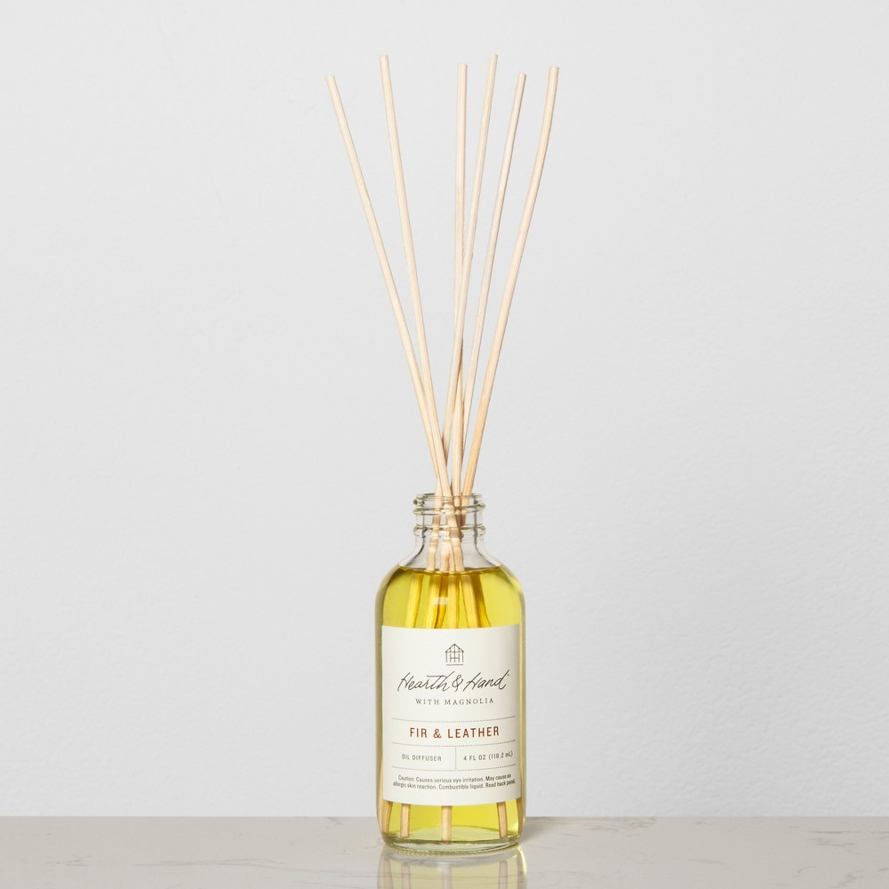 Reed Diffuser - Fir & Leather - Hearth & Hand with Magnolia