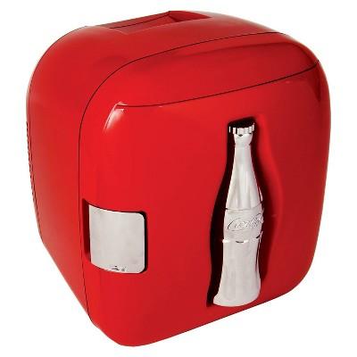 Coca-Cola 12-Can Cube Refrigerator - Red