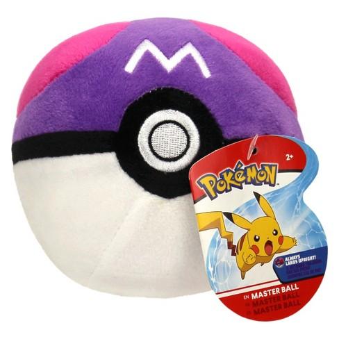 "Pokemon 4"" Poke Ball Plush - Master Ball - image 1 of 2"