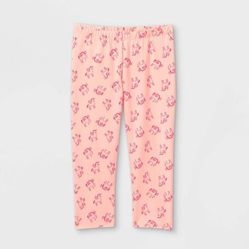Girls' Unicorn Capri Leggings - Cat & Jack™ Pink - image 1 of 2