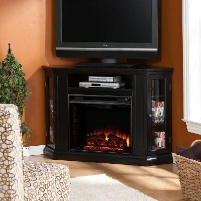 Claremore Convertible Media Fireplace Black - Aiden Lane