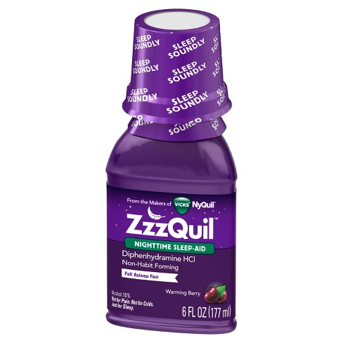 ZzzQuil Warming Berry Nighttime Sleep Aid 6oz - image 1 of 3