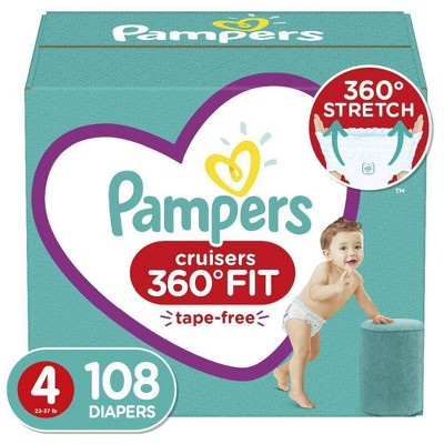Pampers Cruisers 360 Disposable Diapers Enormous Pack - Size 4 (108ct)