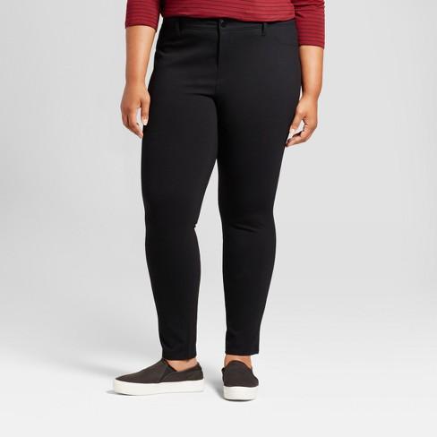 009f2496a16 Women s Plus Size 5 Pocket Ponte Pants - Ava   Viv™ Black 3X   Target
