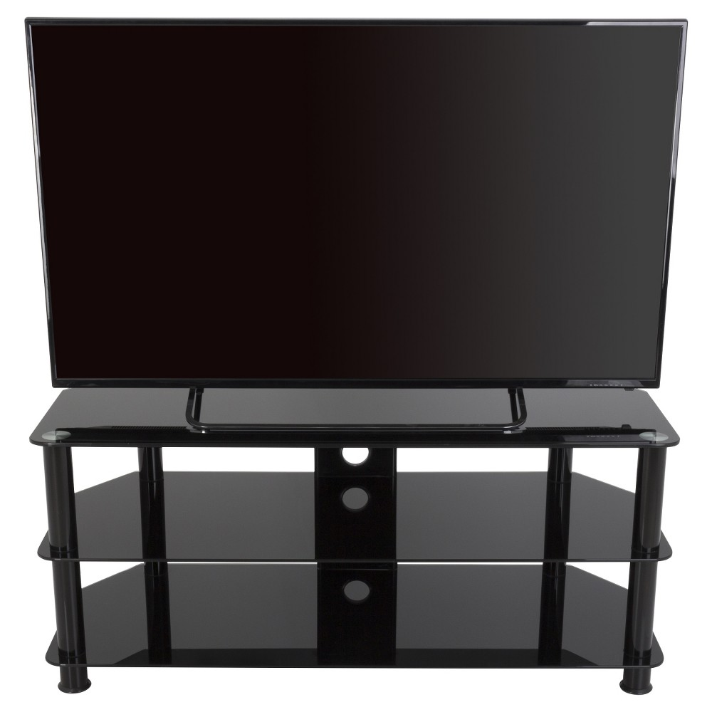 "55"" TV Stand with Cable Management - Black"