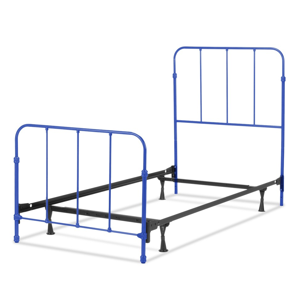 Nolan Complete Kids Bed with Metal Duo Panels - Colbalt Blue - Twin - Fashion Bed Group