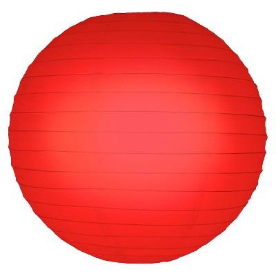 """5ct 10"""" Round Paper Lanterns Red"""