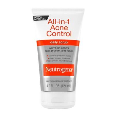 Neutrogena All-In-1 Acne Control Daily Scrub - Acne Treatment 4.2 fl oz
