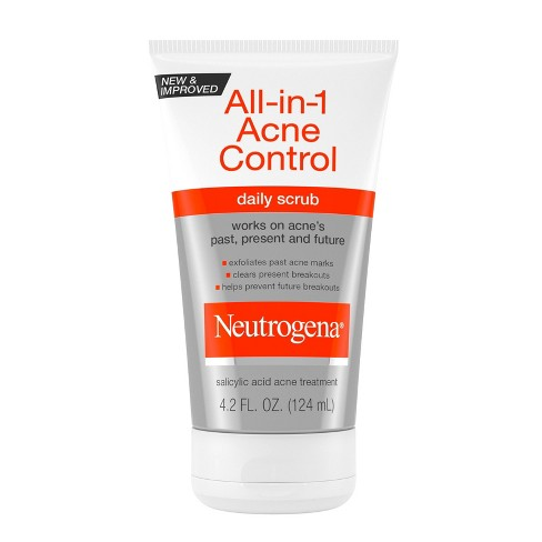 Neutrogena All In 1 Acne Control Daily Scrub Acne Treatment 4 2