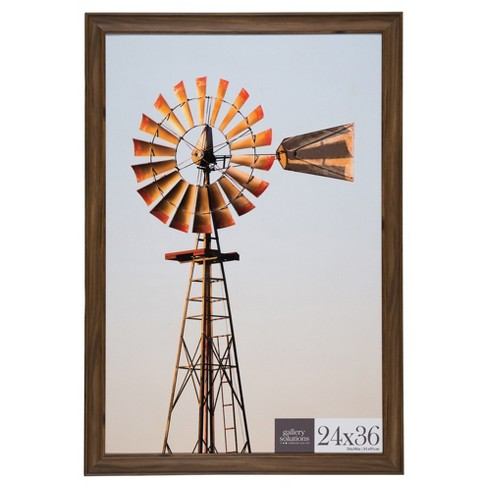 24X36 Walnut Large Wall Frame - Gallery Perfect : Target