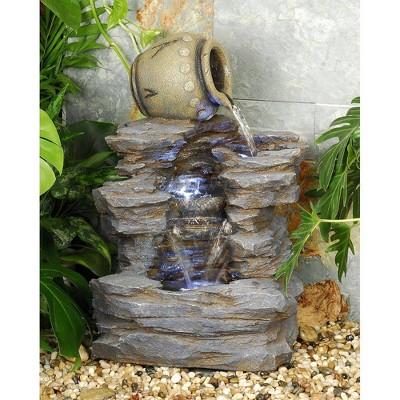 Spilling Jug Cascading Garden Fountain - Acorn Hollow