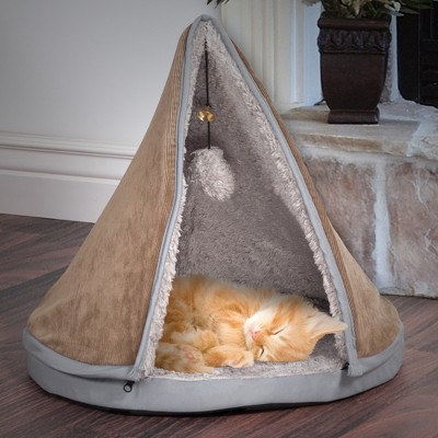 Petmaker Sleep & Play Cat Bed Removable Teepee Top