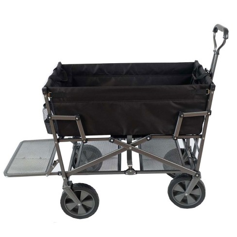 Mac Sports Heavy Duty Steel Double Decker Collapsible Yard Cart Wagon 5dbb7213c