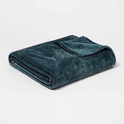 Full/Queen Microplush Bed Blanket Teal - Threshold™
