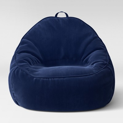target bean bag chairs Xl Structured Bean Bag Chair Removable Cover Corduroy Blue  target bean bag chairs