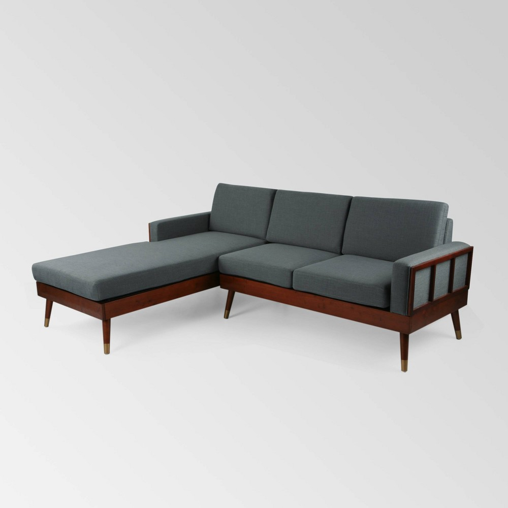 Image of 2pc Arkwright Chaise Sectional Set Charcoal - Christopher Knight Home
