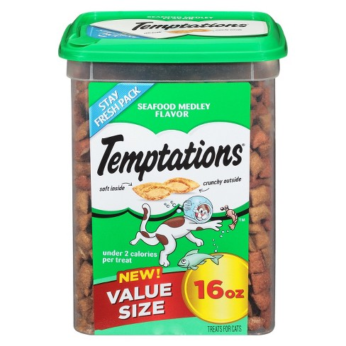 TEMPTATIONS Classic Treats for Cats Seafood Medley Flavor 16 ozs - image 1 of 4